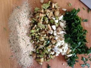 Artichoke stuffing ingredients