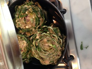 Artichoke on the stove