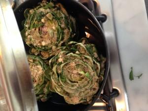 Artichoke on the stove
