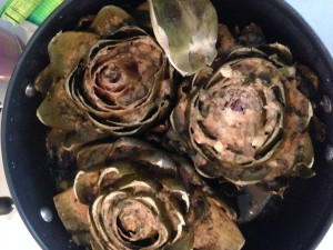 Artichoke cooking