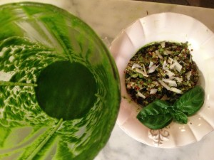 Blended Green Pesto with Quinoa